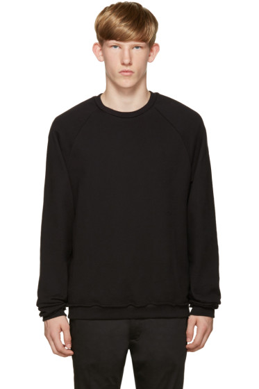 John Elliott - Black Raw Edges Pullover