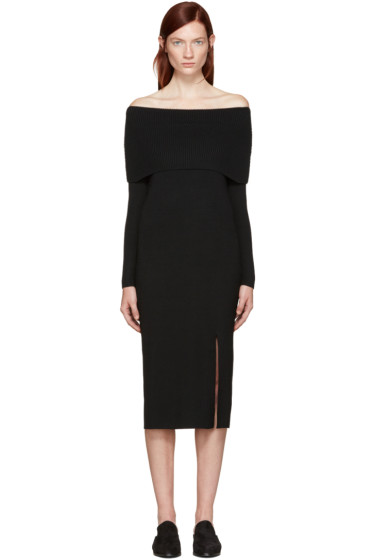 Totême - Black Kosiv Off-the-Shoulder Dress