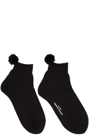 Tricot Comme des Garçons - Black Pom Pom Socks