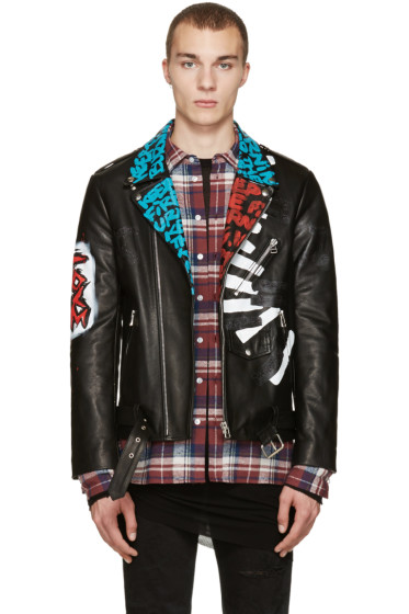 Faith Connexion - Black Leather Fire Jacket