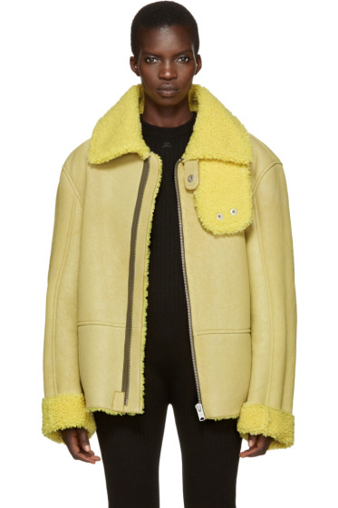YEEZY - Yellow Shearling Flight Coat