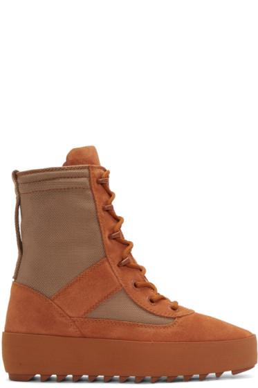 YEEZY - Orange Military Boots