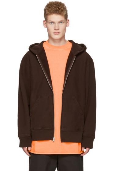 YEEZY - Brown Zip-Up Hoodie