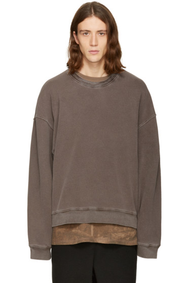 YEEZY - Brown Ribbed Crewneck Pullover