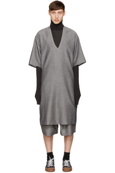 Bless - グレー ラブネック ドレス