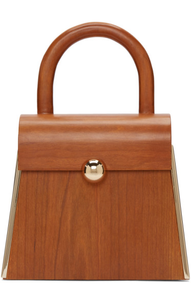 Prim by Michelle Elie - Brown Wood Aturo Bag