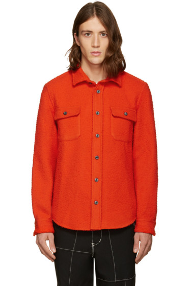 Noah NYC - Red Wool Teddy Shirt