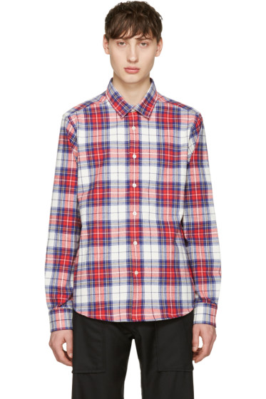 Noah NYC - Red Plaid Pocketed Shirt