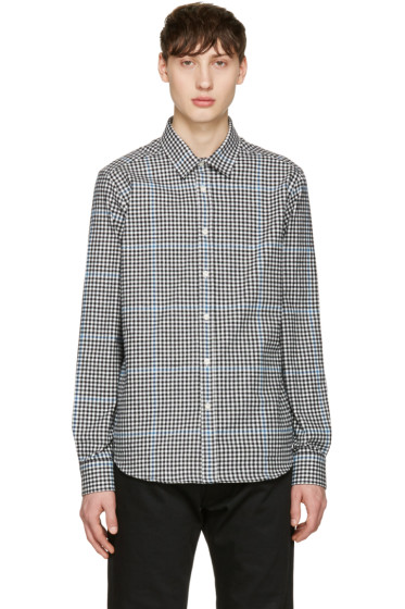 Noah NYC - Black Plaid Pocketed Shirt