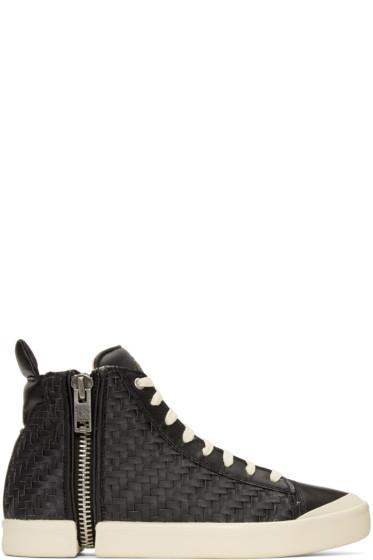 Diesel - Black S-Nentish High-Top Sneakers