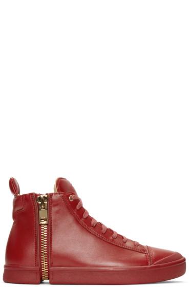 Diesel - Red S-Nentish High-Top Sneakers