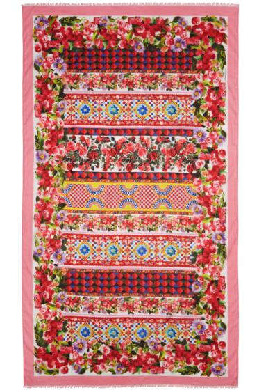 Dolce & Gabbana - Pink Maiolica Scarf