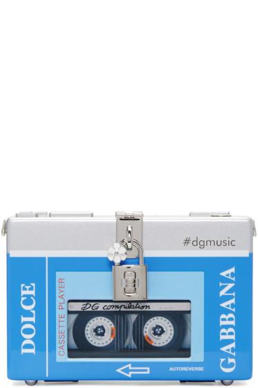 Dolce & Gabbana - Blue & Silver Walkman Box Clutch