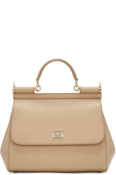 Dolce & Gabbana - Tan Medium Miss Sicily Bag