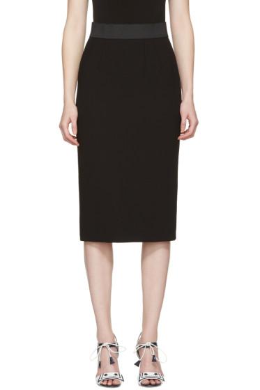 Dolce & Gabbana - Black Wool Pencil Skirt