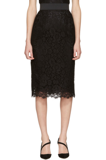 Dolce & Gabbana - Black Lace Skirt