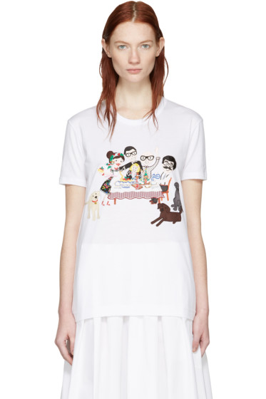 Dolce & Gabbana - White Family T-Shirt