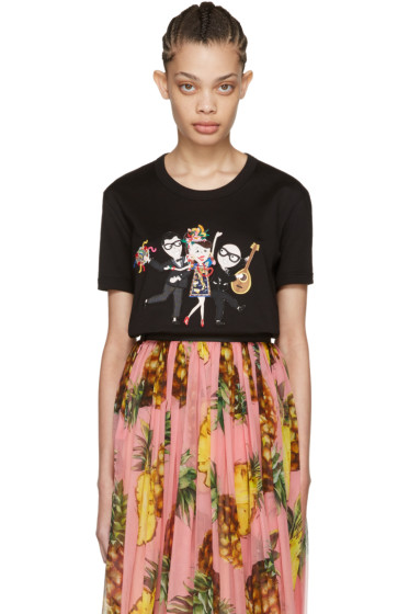 Dolce & Gabbana - Black Family T-Shirt