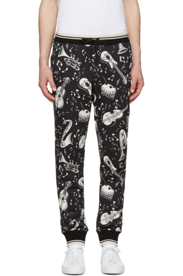 Dolce & Gabbana - Black Instrument Lounge Pants