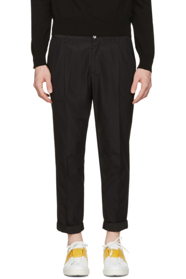 Dolce & Gabbana - Black Pleated Trousers