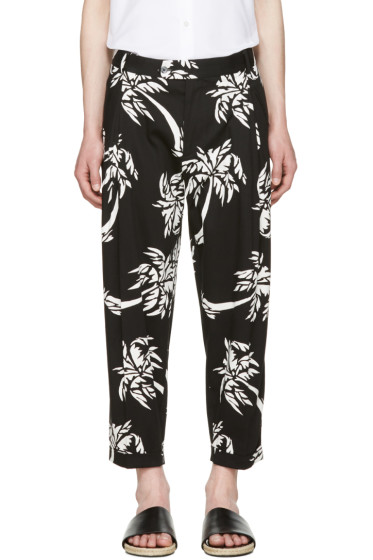 Dolce & Gabbana - Black Cropped Palm Trousers