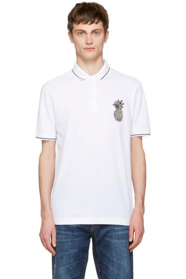 Dolce & Gabbana - White Pineapple Polo