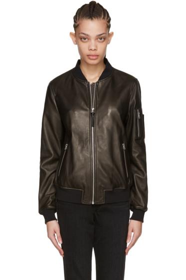 Mackage - Black Leather Val Bomber Jacket