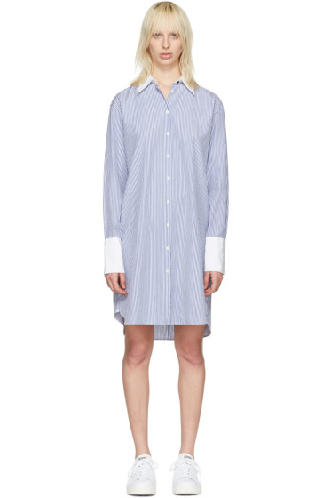 Rag & Bone - Blue Striped Essex Shirt Dress