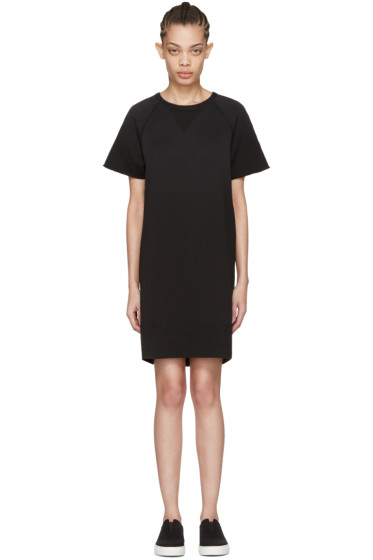 Rag & Bone - Black Washed Terry Dress