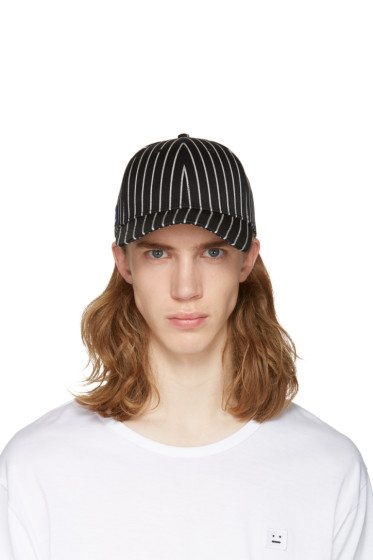 Rag & Bone - Black Striped Baseball Cap