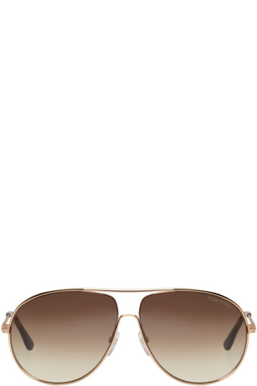 Tom Ford - Gold Cliff Aviator Sunglasses