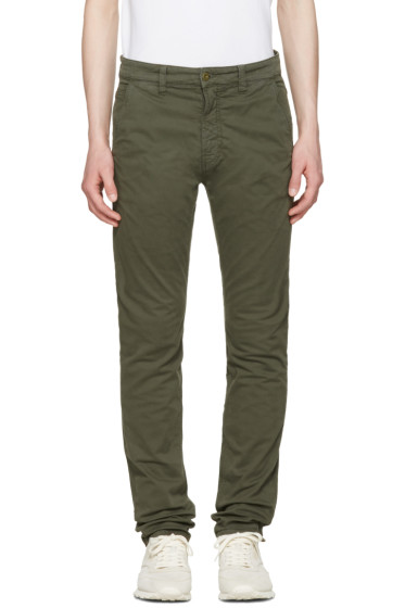 Nudie Jeans - Green Slim Adam Trousers