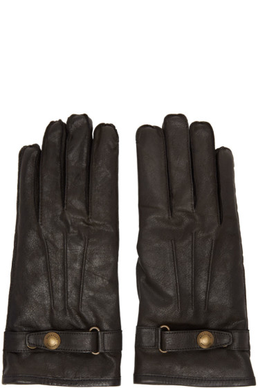 Belstaff - Black Leather Heyford Gloves