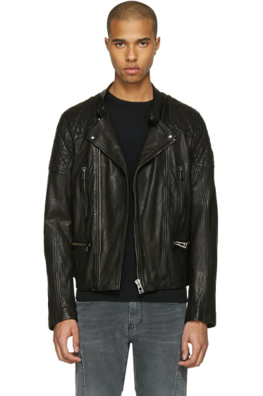 Belstaff - Black Leather Greensted Jacket