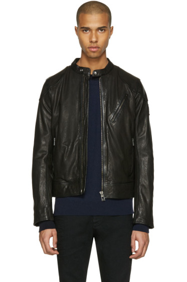 Belstaff - Black Leather Maxford Jacket