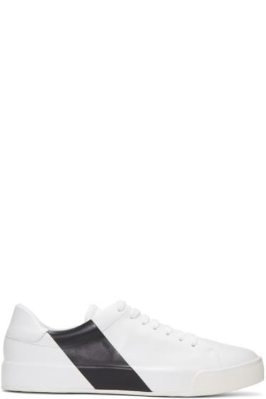Moncler - White & Navy Remi Sneakers