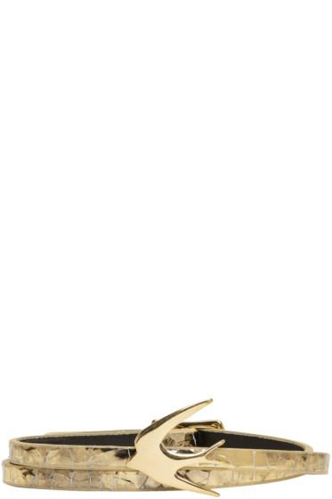 McQ Alexander McQueen - Gold Swallow Mini Wrap Bracelet