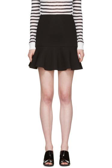 McQ Alexander McQueen - Black Peplum Miniskirt