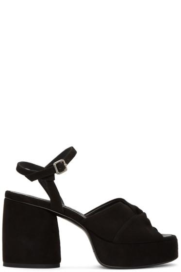 McQ Alexander McQueen - Black Suede Arizona Sandals