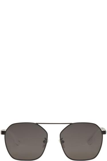 McQ Alexander McQueen - Black Aviator Sunglasses