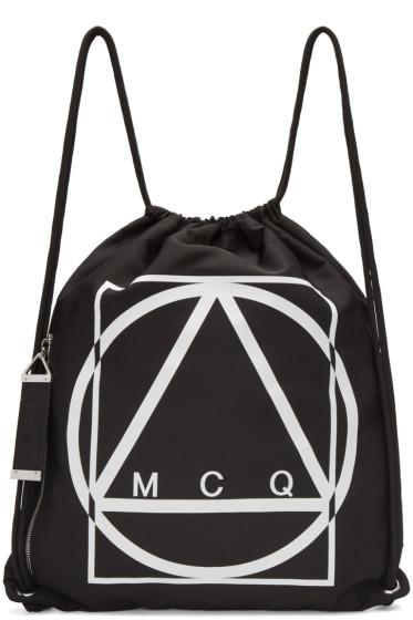 McQ Alexander McQueen - Black Nylon Logo Rucksack