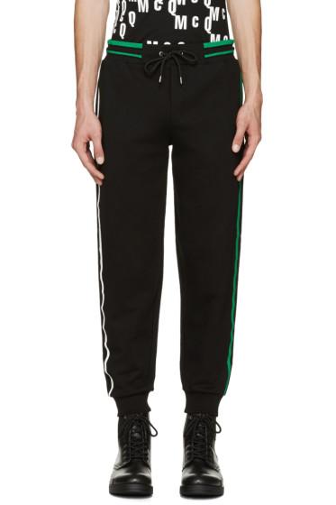 McQ Alexander McQueen - Black Striped Lounge Pants