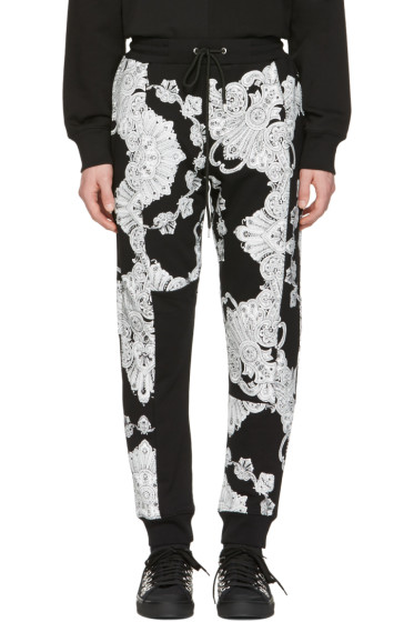 McQ Alexander McQueen - Black Phoenix Paisley Lounge Pants