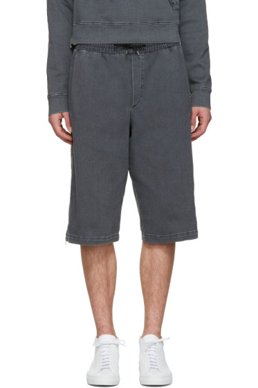 McQ Alexander McQueen - Black Side Zip Shorts