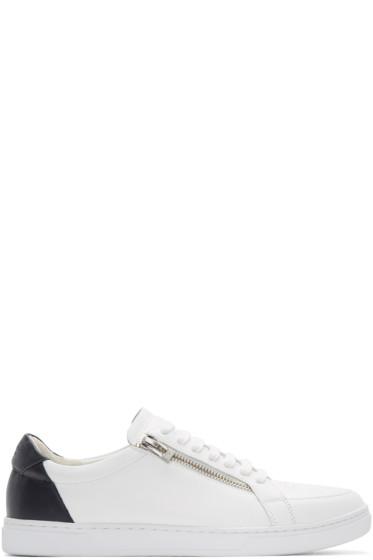 Tiger of Sweden - White & Navy Arne Sneakers