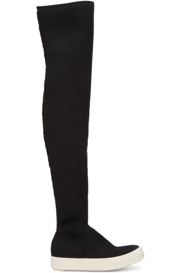 Rick Owens Drkshdw - Black Over-The-Knee Boots