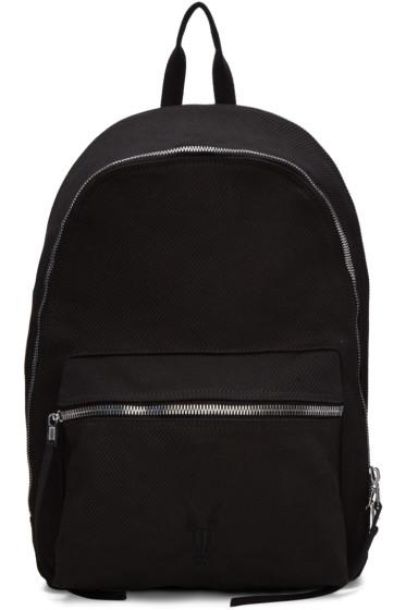 Rick Owens Drkshdw - Black Twill Backpack