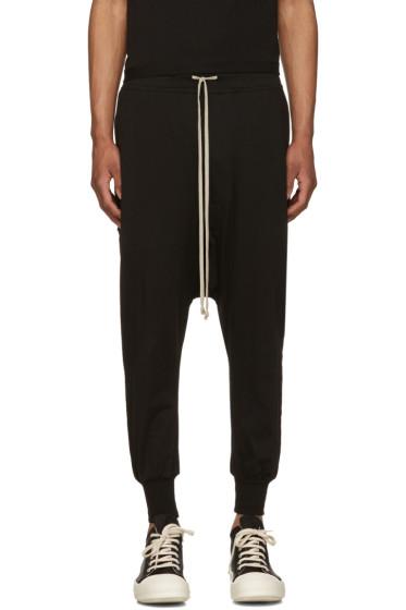 Rick Owens Drkshdw - Black Jersey Prisoner Drawstring Lounge Pants