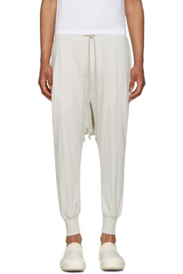 Rick Owens Drkshdw - Off-White Prisoner Drawstring Lounge Pants