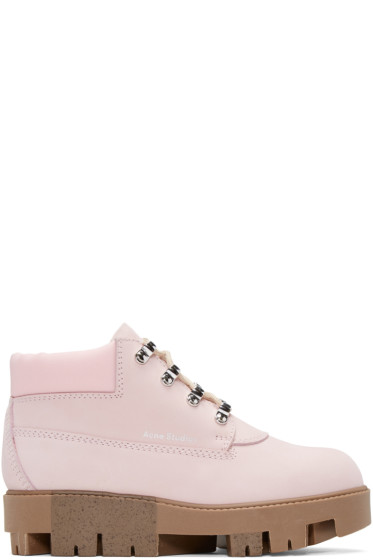 Acne Studios - Pink Tinne Hiking Boots